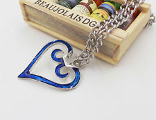 Kingdom Hearts Crown Logo Pendant Heart Necklace Charm Anime Cosplay Cool Gifts