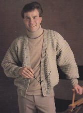Crochet Pattern ~ Mans Cardigan Sweater ~ Instructions