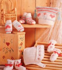 Vintage Knitting Pattern Baby/Child 0-12 Months 2 Sets Hat Bootees Mittens W7126