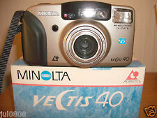 BOXED MINOLTA VECTIS 40 IX-DATE APS FILM CAMERA~30-120MM ASPHERICAL LENS (21F13)
