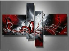oil paintings red black white home decor Modern abstract wall art no frame