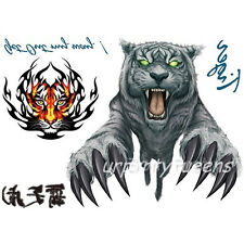Cool Tiger Bear Tattoo Stickers Body Art Decal Waterproof Paper Temporary Tattoo