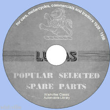 Lucas populaire sélectionné pièces détachées information dvd 1939 ~ 1958