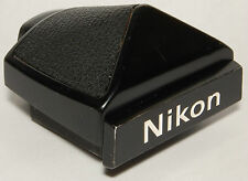 Nikon DE-1 plain eyelevel finder for F2 camera bodies, black.