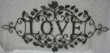 80cm Rustic French Provincial Country Brown Iron Love Sign BNWT Wall Ornament