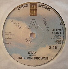 "JACKSON BROWNE - Stay - Excellent Condition 7"" Single Asylum K 13128"