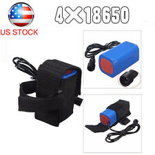 18650 Bike Bicycle Light Battery Pack 6400 Mah for Cree XML Bike Light Headlamp