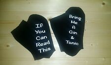 If you can read this/Bring me a Gin & Tonic socks Christmas gift