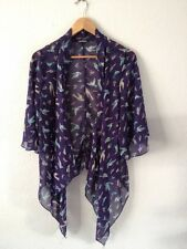 One Love Semi Sheer Polyester Top Size S/M Open Blue/Bird  R9341