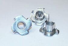 6 Stück Einschlagmuttern Muttern mit Kralle in Stahl verzinkt in M8 x 11 x 22 mm