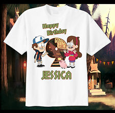 Gravity Falls Custom Tshirt Personalize birthday Tee Disney Mabel Dipper Waddles