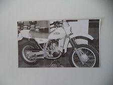 - RITAGLIO DI GIORNALE ANNO 1982 - MOTO KTM MX 125