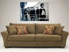 """THE AMITY AFFLICTION MOSAIC 35X25"""" INCH WALL POSTER TAA Ahren Stringer METALCORE"""
