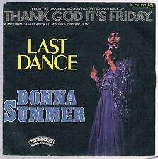 """DONNA SUMMER THANK GOD IT'S FRIDAY - LAST DANCE / WITH YOUR LOVE 7"""" 45 GIRI"""
