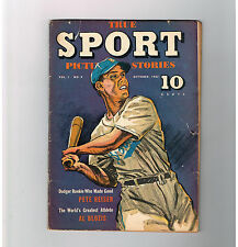 TRUE SPORT PICTURE STORIES (v1) #9 Gold Age (1942) find from Street & Smith!