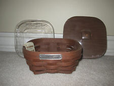 Longaberger 2014 Host Appreciation Basket Combo RB Rich Brown with Lid/Pro NEW