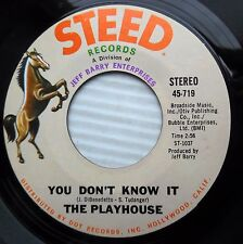 PLAYHOUSE you don't know it Love is on our side 1969 modern soul dancer 45 e7054