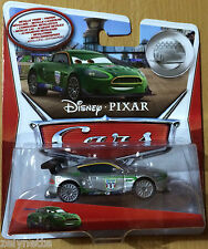 DISNEY PIXAR CARS NIGEL GEARSLEY SERIE SILVER METALLIC FINISH MATTEL NEUF