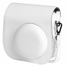 Instax Mini 8 Camera Leather Case Shoulder Bag Cover For Fujifilm Fuji in White