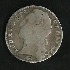 1/10 Ecu Argent Louis XV au Bandeau 1750 D ; R3
