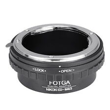 Nikon G AF-S Lens to Micro M4/3 Adapter EP5 EP3 EP2 GF1 GF2 G1 G3 GH2 GX7 G6 G3