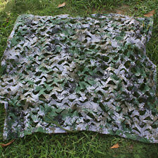 hunting Camping Military Digital Camouflage Net Woodlands Leaves Camo 1X1M