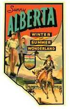 Alberta  Canada     Vintage-Looking  Travel Decal/Luggage Label/Sticker