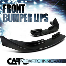 JDM BLACK FRONT BUMBER LIP CANARDS FLIPPERS VALANCE BODY KIT PAIR