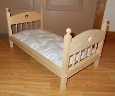 New American Made Doll Bed And Mattress For All 18 Inch Dolls
