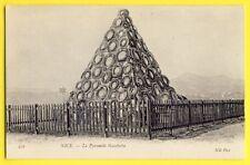 CPA 06 - NICE (Alpes Maritimes) La PYRAMIDE de couronnes Mortuaire Léon GAMETTA