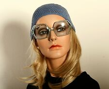 Edged shaped, bigger Vintage ladies sunglasses in crystal clear by SELECTA  L32