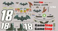 #18 Matt Kenseth Batman 2014 1/64th HO Scale Slot Car Waterslide Decals