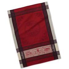 "Dish Towel - (Tea Towel) French Inspired Design ""Vins de France"" - 100% Cotton"