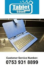 "Blue Disgo 7000 Slim 7"" Android Tablet PC USB Keyboard Leather Carry Case Stand"