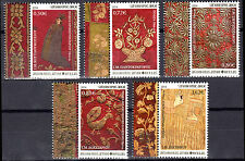 GREECE MOUNT ATHOS (Agion Oros) 2014 2nd Issue Embroideries B' SET MNH FREE SHIP