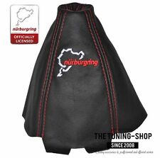 FITS AUDI A4 B5 95-97 GEAR GAITER BLACK LEATHER STYLE NURBURGRING EMBROIDERY