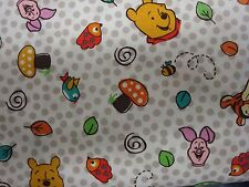 Springs Creative 100% cotton Patchwork, Quilting FQ/Metre POOH NURSERY SCATTER
