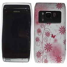 RED FLOWER Ibrida in Silicone Gel Custodia per Nokia N8