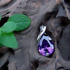 Hot Plated Purple Natural Crystal Heal Point Chakra Stone Pendant For Necklace