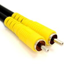 15m Composite RCA Yellow Phono Cable Lead AV Video Digital Audio RG59 75ohm
