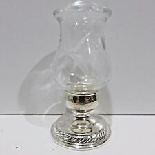 Vintage Signed Quaker Silver Co Replacement Shaker Sterling Silver Etched Glass
