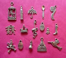 Tibetan silver Mary Poppins thème Mixte Charms 16 par Pack