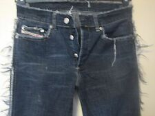 P14 ) WOMEN'S FANCY DIESEL INDUSTRY BLUE JEANS  BUTTON FLY  WAIST  28  LEG 30