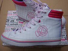lace up textile/fabric Comfort,Whites/Pink Pastry Tasty Mid trainers size UK 4.5