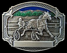 Horse Race Belt Buckles Horses Harness Races Ample Pace Trot Racing Carts Buckle