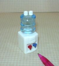Miniature Countertop Water Cooler w/2 Cups for DOLLHOUSE Home/Office 1/12 Scale
