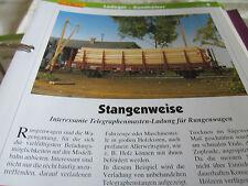 Modellbahn Schritt für Schritt 8 Betrieb LAdegut Rundhölzer Rungenwagen