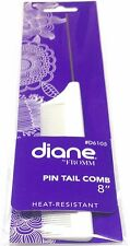 Diane by Fromm #D6105 Metal Tail Comb Heat - Resistant Pin Tail Fine Tooth 8""