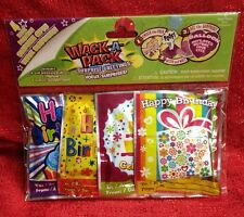 Happy Birthday Wack-A-Pack 4 SELF-INFLATING Mini Foil Balloons Brand New