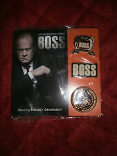 A STARZ ORIGINAL SERIES BOSS SET OF 3 PINS STARING KELSEY GRAMMER